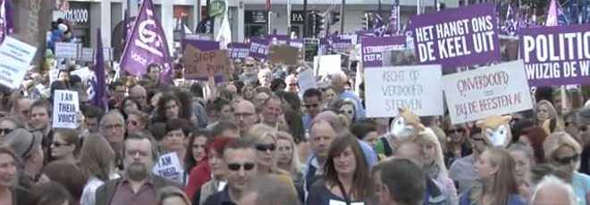 Bélgica: milhares de ativistas marcham para dizer não ao abate de animais
