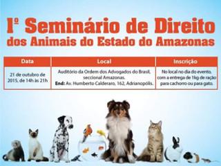 OAB realiza seminário de direito dos animais do Amazonas