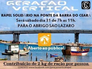 Rapel e shows de rock para ajudar o Abrigo São Lázaro em Fortaleza, CE