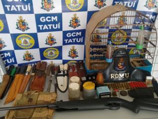 Suspeito de praticar caça de animais é detido com espingardas em Tatuí, SP