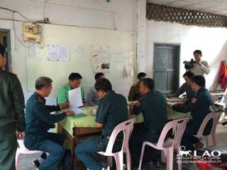 Laos policiais descoberta triste H