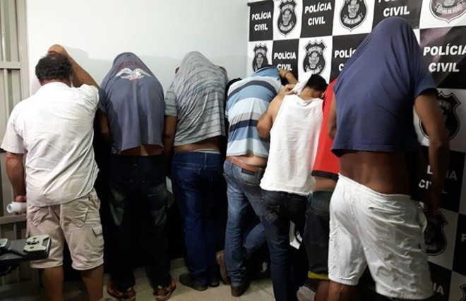 GO Senador Canedo detidos