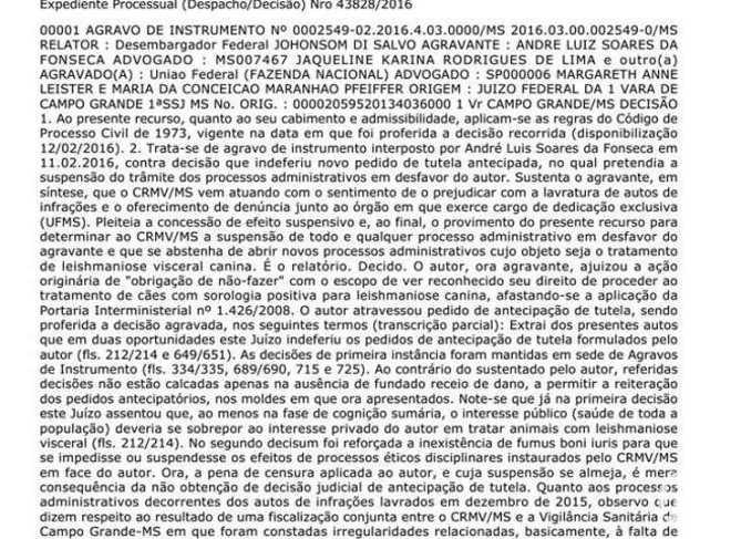 MS veterinario leishmaniose 01