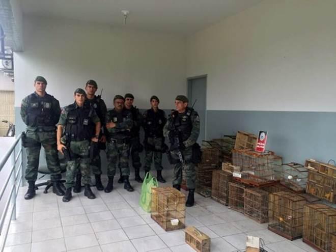 Operação Ambiental resgata aves silvestres e detém seis suspeitos em Santa Rita, PB