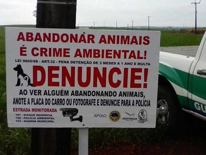 Guarda Municipal de Arapongas (PR) faz campanha contra maus-tratos e abandono de animais