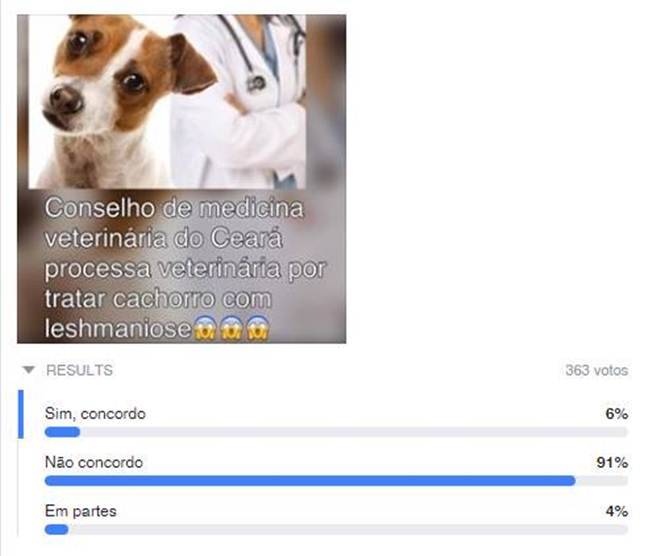 Veterinária não deveria ser processada, elegem os leitores do Tribuna do Ceará