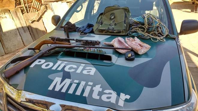 Suspeito de caçar animais silvestres é detido com armas durante ação em Castelo, ES