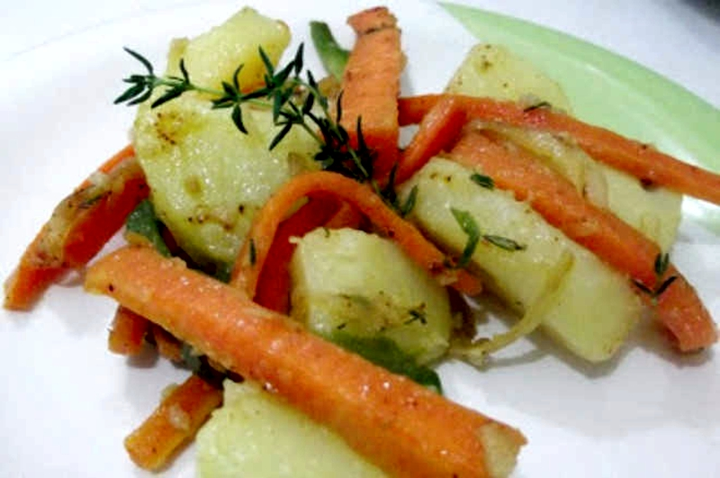 Salada morna de legumes