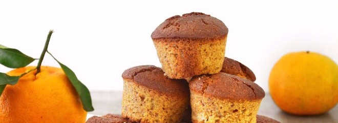 Muffins de amêndoa com tangerina