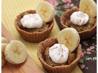 Tortinha de banana vegana é uma ótima opção de sobremesa saudável