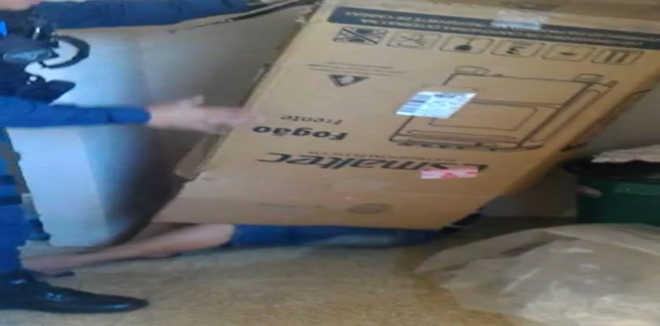 DF homem esconde caixa