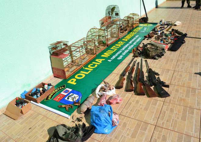 Polícia Ambiental encontrou este ano cerca de 500 animais silvestres abatidos ou em cativeiros em Foz do Iguaçu, PR