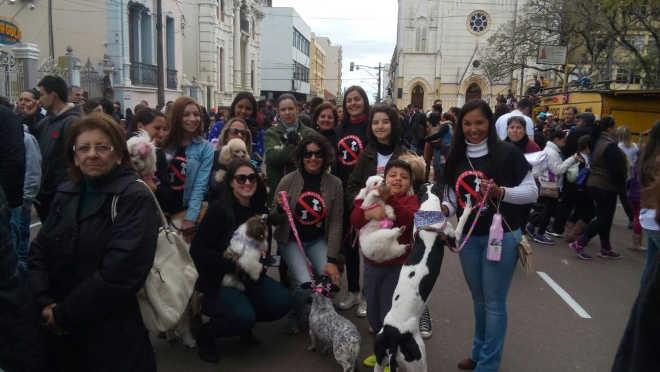 Cãominhada cívica contra maus-tratos de animais reúne mil pessoas em Alegrete, RS