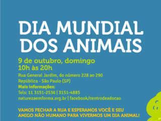 Dia Mundial dos Animais será celebrado no centro de São Paulo