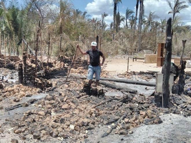 Incêndio desabriga 40 pessoas e mata animais na cidade de União, no Piauí