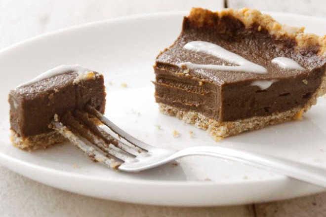 Torta de chocolate sem açúcar