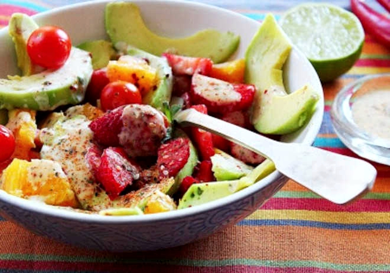 Salada cor e sabor