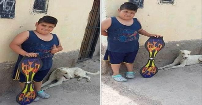 Menino coloca skate à venda para tratar de cão abandonado