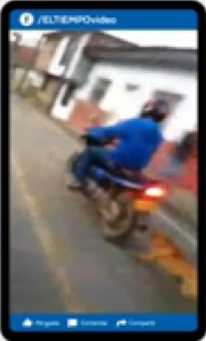 Motoqueiro arrasta cachorro por várias quadras em Antioquia, na Colômbia