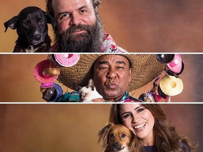 Artistas paraenses fotografam com cães e gatos para calendário em Belém, PA