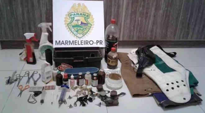 Polícia Militar flagra rinha de galos e duas pessoas são detidas em Marmeleiro, PR