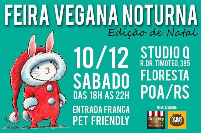 Edição de Natal da Feira Vegana de Porto Alegre (RS) acontece dia 10