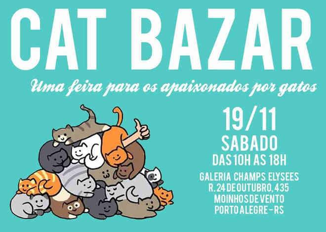 Cat Bazar, uma feira para os apaixonados por gatos, em Porto Alegre, RS