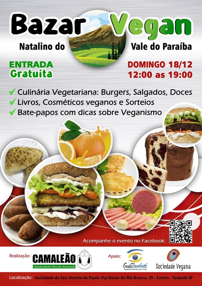 Bazar Vegan Natalino neste domingo em Taubaté, SP