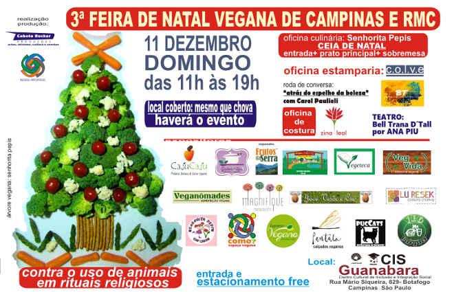 SP: III Feira de Natal vegana de Campinas e RMC