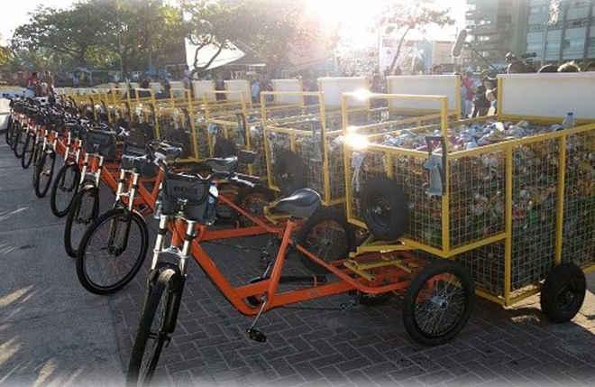 Bicicletas de carga para catadores evitam crueldade com cavalos