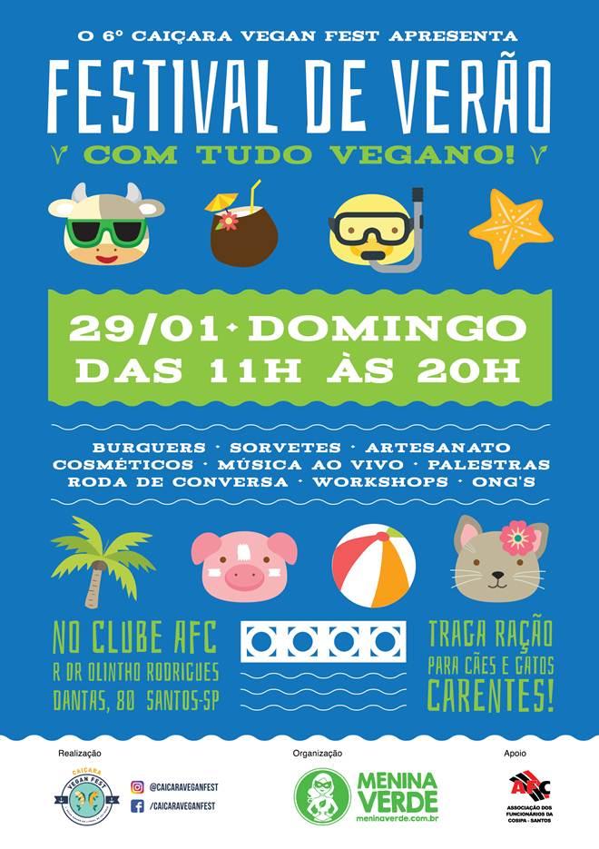 Santos (SP) recebe 1º Festival Vegano de Verão
