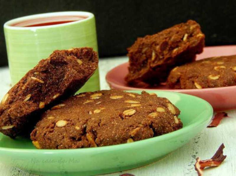 Cookies de batata-doce e alfarroba