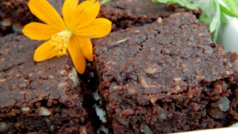 Brownies de feijão azuki