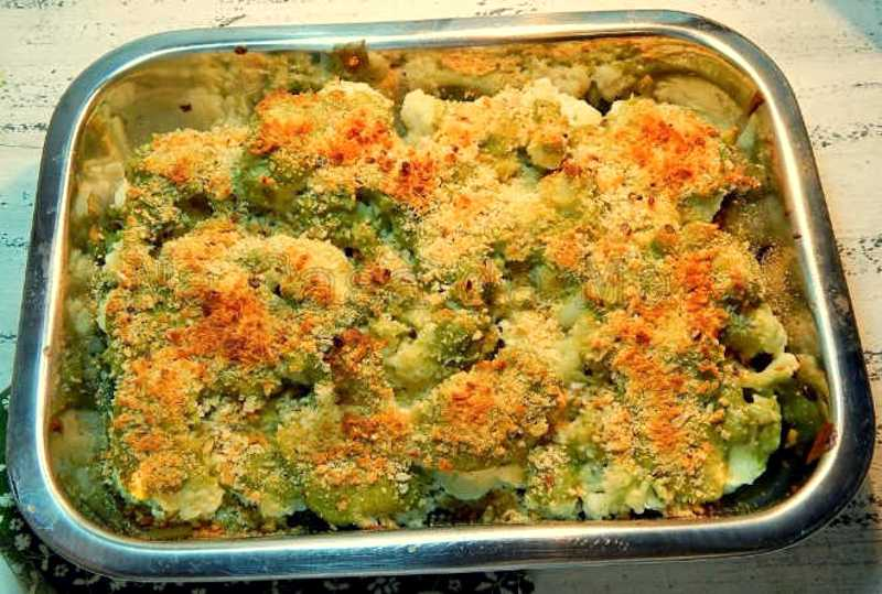 Brócolis gratinados