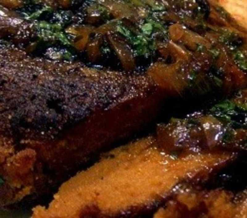 Seitan assado com vinho do Porto