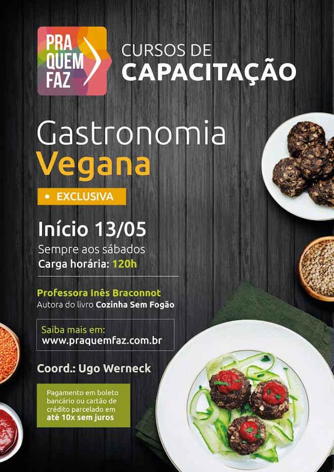Rio terá Curso de Capacitação em Cozinha Vegana