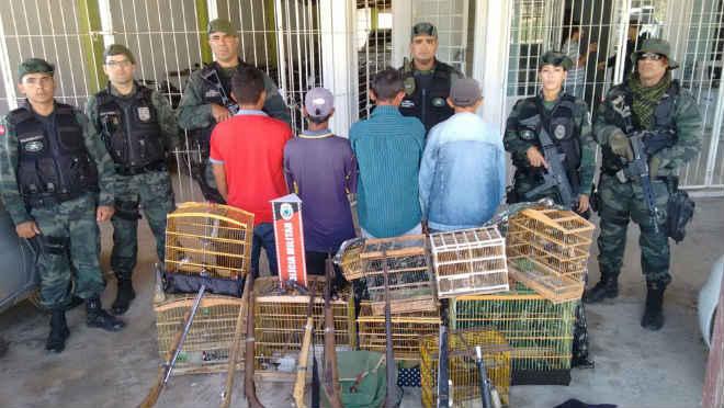 Grupo é preso com armas e animais silvestres no Sertão da Paraíba