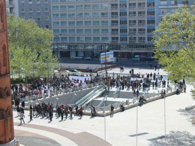 Centenas de amigos dos animais reclamam mais direitos e mais respeito em Lisboa, Portugal