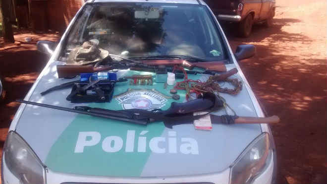 Polícia Ambiental flagra caçador em Ourinhos, SP