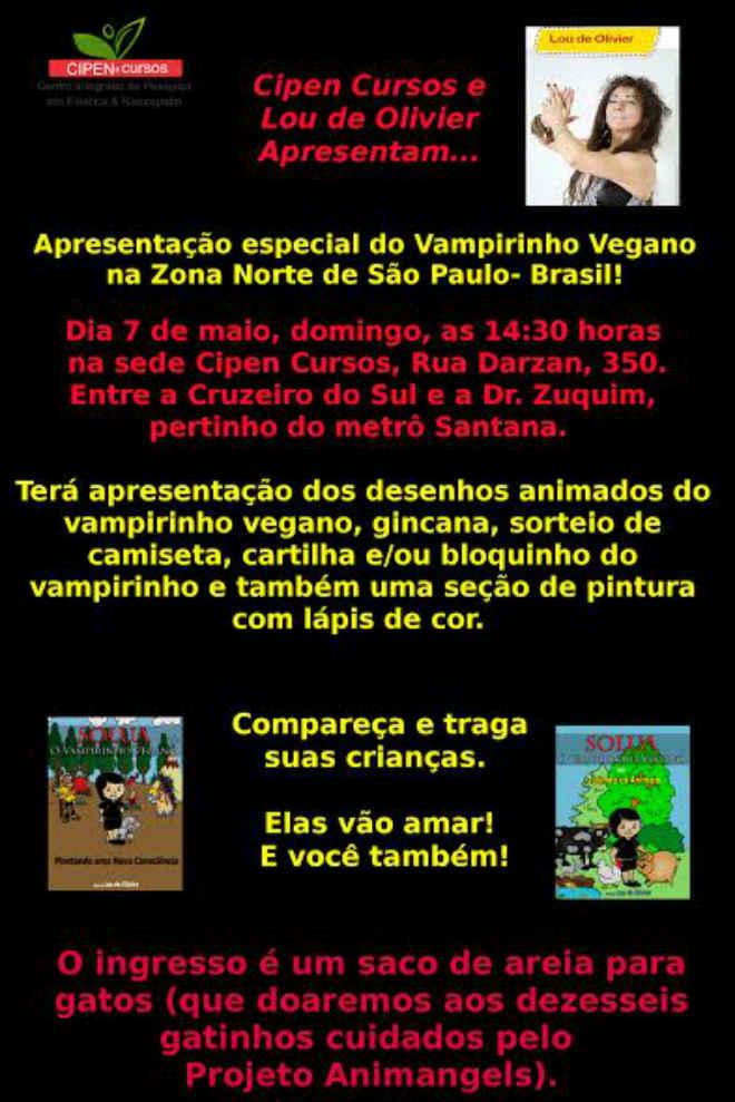 Apresentação especial do Solua, o Vampirinho Vegano na Zona Norte de São Paulo, SP