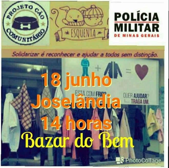 PM e Projeto Cão Comunitário arrecadam doações para o 7º Bazar do Bem, em Joselândia, MA