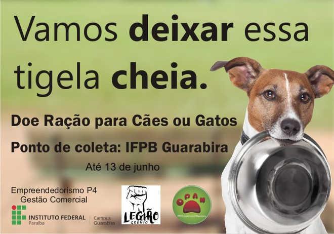 Estudantes realizam campanha para ajudar ONG de proteção animal em Guarabira, PB