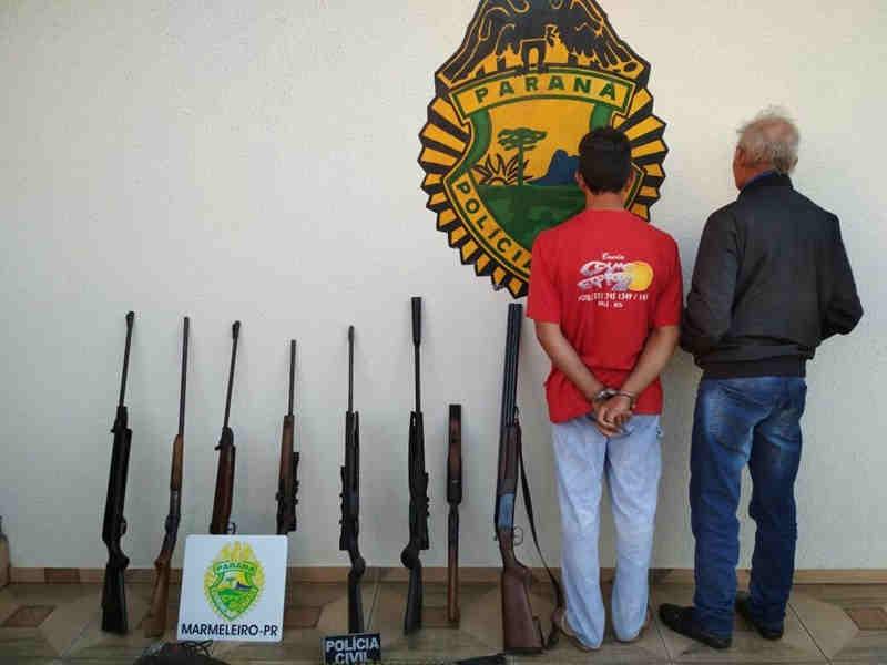 Caçadores são presos no interior de Marmeleiro, PR