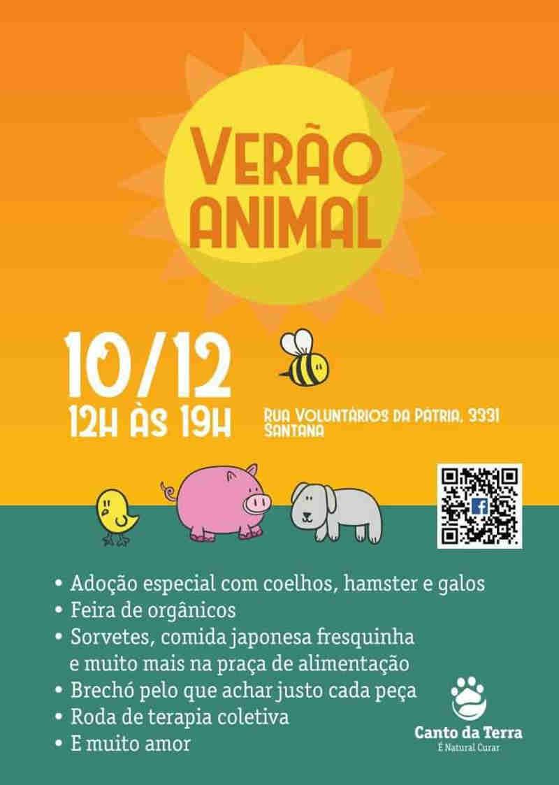 Verão Animal em prol da ONG Canto da Terra, em SP