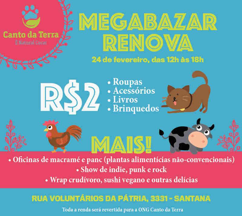 Megabazar em São Paulo tem itens por R$ 2 para ajudar animais