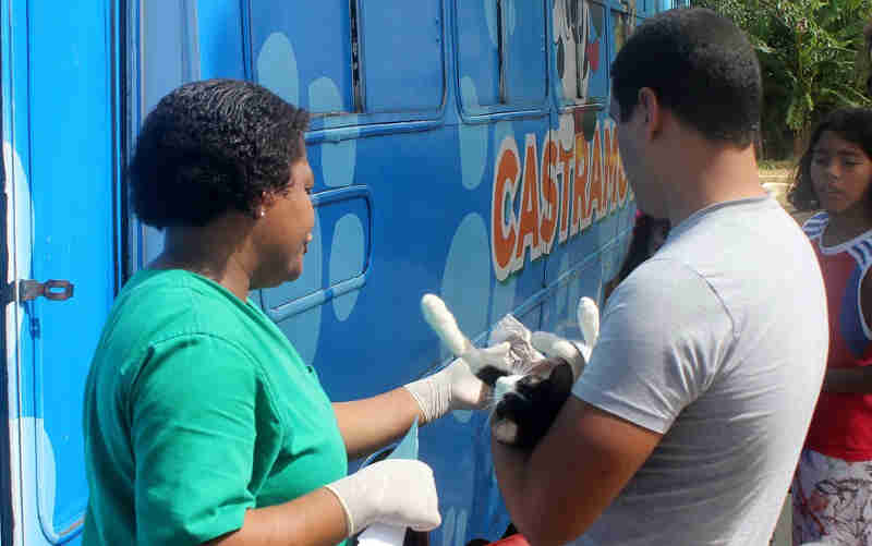 Cláudio (MG) recebe projeto itinerante para castração de cães e gatos