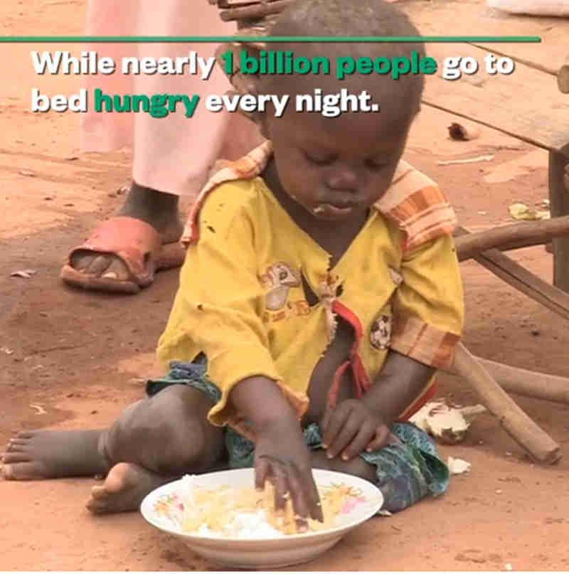 Nós poderíamos resolver o problema da fome no mundo, se todos contribuíssem com uma simples mudança. Veja como