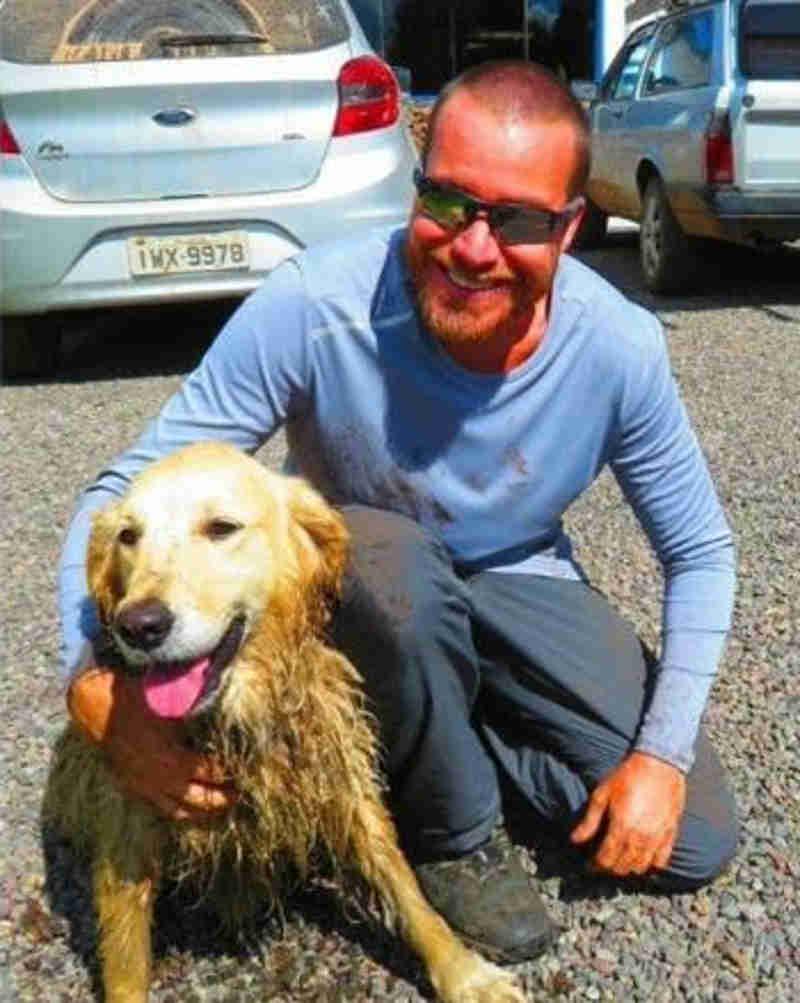 Corretor de Florianópolis resgata cachorra que caiu em cânion do RS