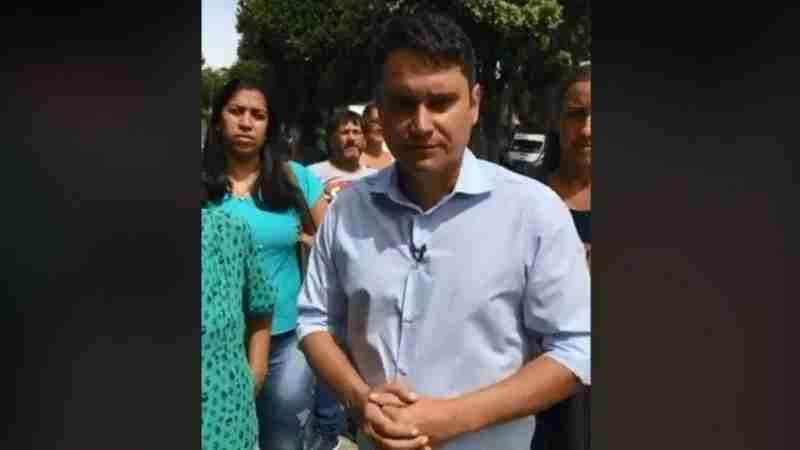 O vereador Luiz Carlos Ramos Filho (Pode) em vídeo depois de ser barrado na Fazenda Modelo da prefeitura - Foto: Reprodução / Facebook