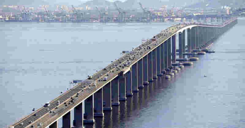 Gato é 'impedido' de atravessar a Ponte Rio-Niterói